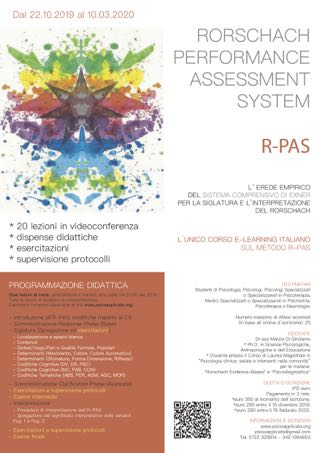 IL RORSCHACH-PERFORMANCE ASSESSMENT SYSTEM (R-PAS)